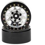 SSD RC D Hole 1.9 Steel Beadlock Crawler Wheels (Silver) (2)