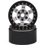 SSD RC 1.9 Rock Racer Wheels (Silver/Black) (2)
