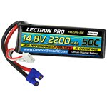 Common Sense RC Lectron Pro 14.8V 2200mAh 50C Lipo Battery with EC3 Connector fo