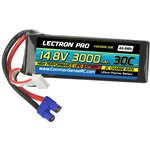 Common Sense RC Lectron Pro 14.8V 3000mAh 30C Lipo Battery with EC3 Connector fo