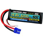 Common Sense RC Lectron Pro 14.8V 5200mAh 50C Lipo Battery Soft Pack with EC5 Co
