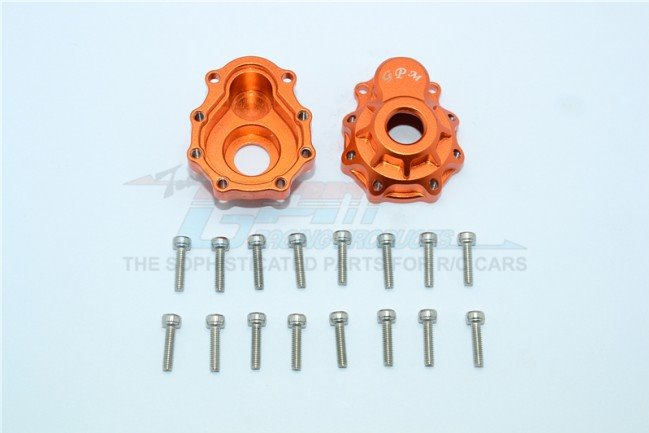 GPM Racing Aluminum Outer Portal Drive Housing (Front Or Rear) - Orange