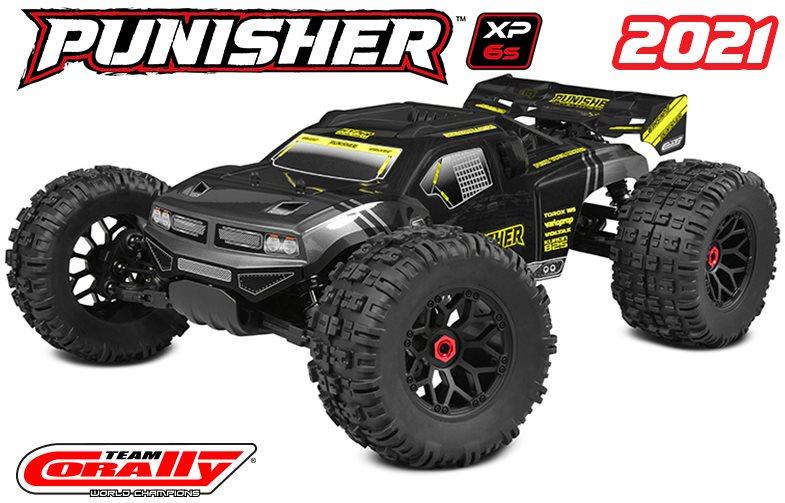 Team Corally Punisher Xp 6S  1/8 Monster Truck Lwb Rtr Brushless
