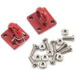 Yeah Racing Four Bolt Tow Ring (Red) (2)