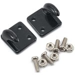 Yeah Racing 1/10 Crawler Scale Accessory Set (Black) (Off Center Hooks)