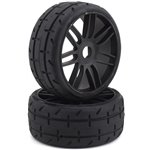 GRP GT - TO1 Revo Belted Pre-Mounted 1/8 Buggy Tires (Black) (2) (S7