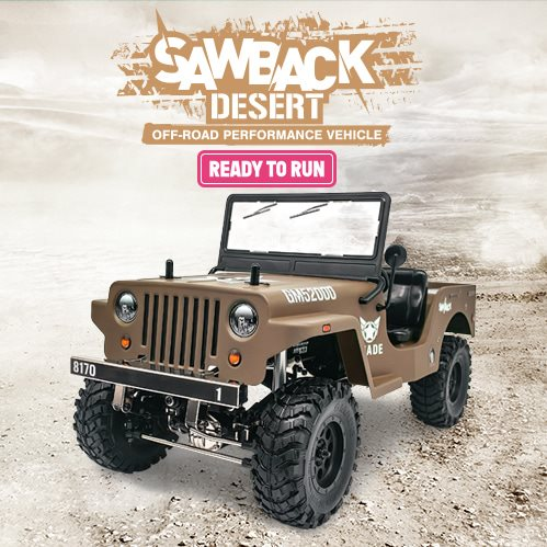 Gmade 1/10 Gs01 Desert Sawback Rtr Crawler W/ Gs01 Chassis