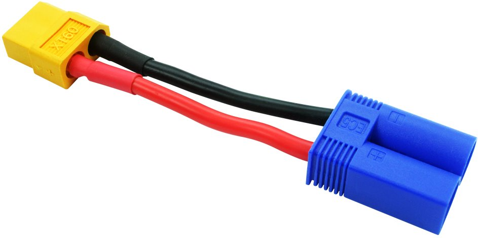 Common Sense RC XT60 Female to EC5 Male Conversion Adapter