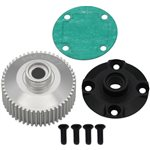 Hot Racing Hard Anodized Aluminum Differential Case: DR10