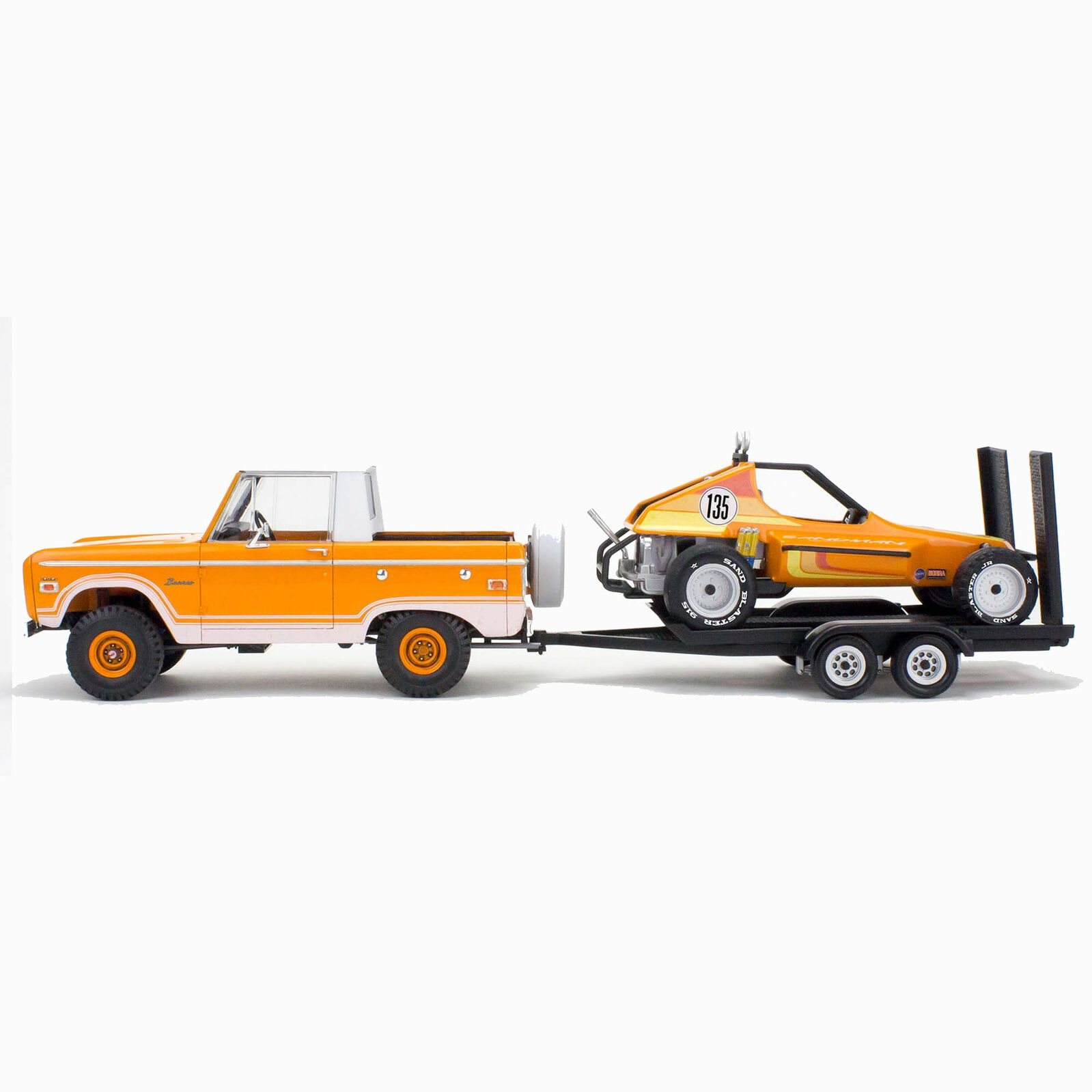 Revell 1/25 Ford Bronco Half Cab with Dune Buggy & Trailer