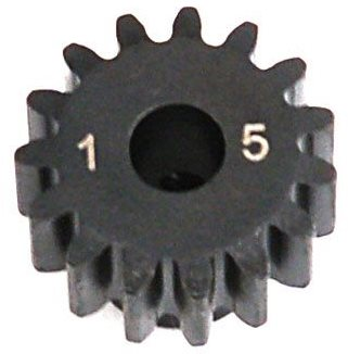 Losi 1.0 Module Pitch Pinion, 15T: 8E,SCTE