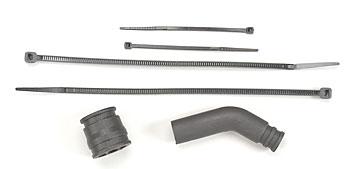 Traxxas Pipe Coupler(Black)/Exhaust Deflector/Ties Revo