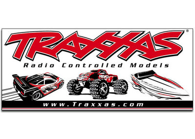 Traxxas Racing Banner Red/Black 3X7\'