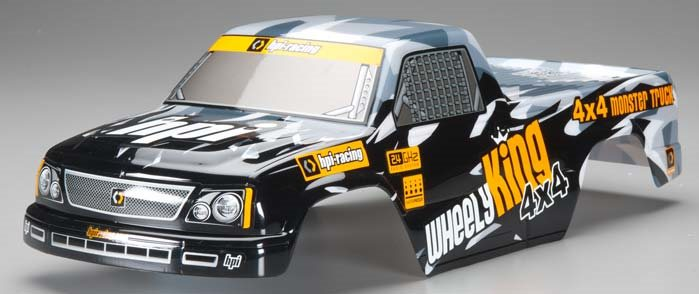 HPI Mini GT-1 Truck Painted Body Black/Gray