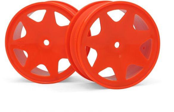 HPI Ultra 7 Wheels, Orange, 30Mm (2Pcs)