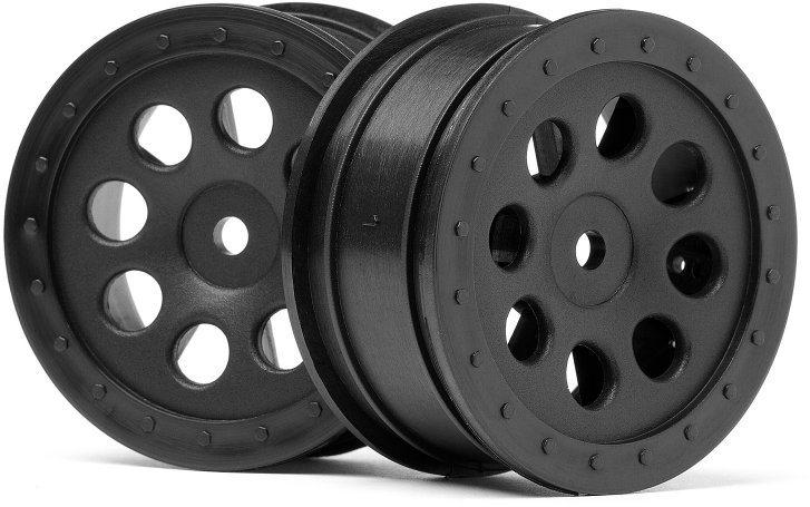 HPI St-8 Wheel, Black, 0Mm Offset, (2Pcs)