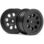 St-8 Wheel, Black, 0Mm Offset, (2Pcs)