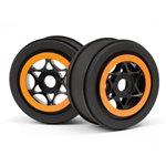 Black And Orange Ah-64 Wheel, 42X83mm, For The Apache C1 Sc (2Pc
