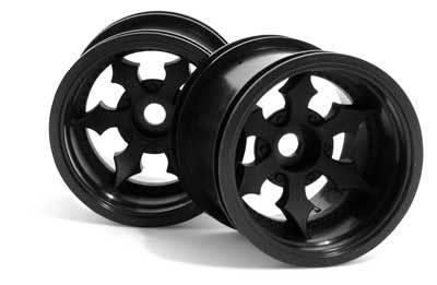 HPI Spike Truck Wheel Black (2)