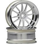 Work XSA Wheel 26mm Chr/Wht 3mm Offset (2)