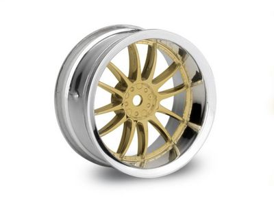 HPI Work XSA O2C Wheel 26mm Chr/Gld 6mm Offset (2)