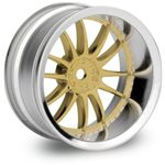 Work Xsa 02C Wheel, 26Mm, Chrome/Gold, 9Mm Offset