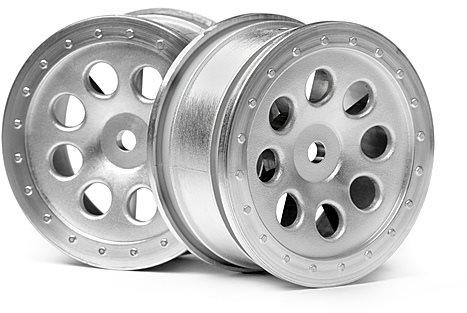 HPI St-8 Wheel, Matte Chrome, 0Mm Offset, (2Pcs)