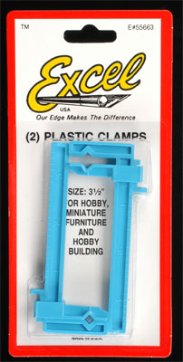 """Excel Hobby Blades Corp. Small Clamp 1x3.5\"""" (2)"""