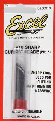 Excel Hobby Blades Corp. Curved Edge Blades (5)