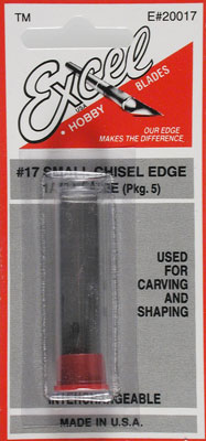 Excel Hobby Blades Corp. Blades 318 Chisel Edge (5)