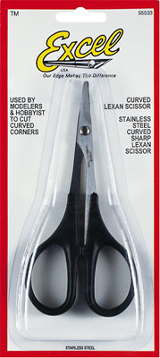 """Excel Hobby Blades Corp. Lexan Scissors Curved 5-1/2\"""""""