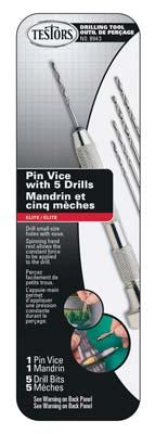 Testors Pin Vise w/5 Drill Bits