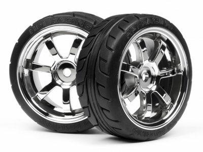 HPI Mounted T-Grip Tire 26mm Rays 57S-PRO Whl Chr