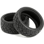 HPI X Pattern Radial Tire, D Compound, 26Mm, (2Pcs), 1/10Th On-Road