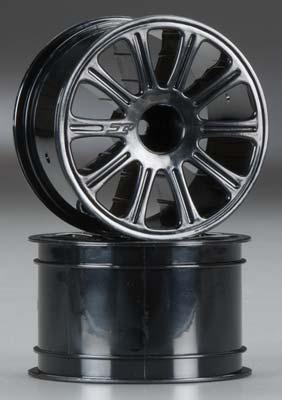 J Concepts Rulux 1/16 E-Revo Wheel 2.2  Black (2)