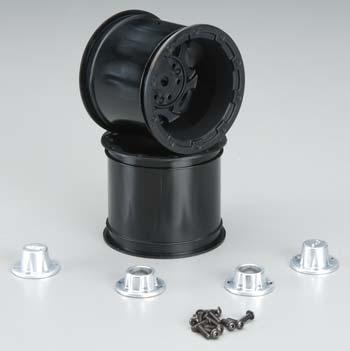J Concepts Tense Front Wheel Rustler/Stampede Black w/Cap(2)
