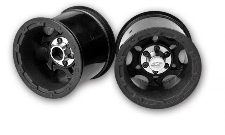 "J Concepts Tense - Rustler Stampede 2.2\"" Electric Rear Wheel - Black"
