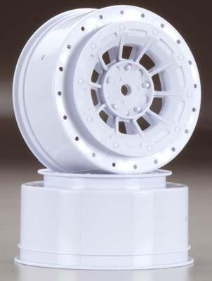 J Concepts Hazard 12mm SC10/4x4 Hex Wheel White (2)