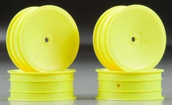 J Concepts Mono B4.1/RB5 12mm Front Wheel Yellow (4)