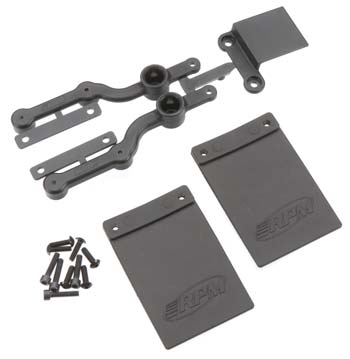 RPM Mud Flap/Number Plate Kit SC10 2WD
