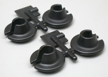 RPM Black Shock Spring Cups - Losi, Traxxas, Assoc. Mgt & Hpi Savage