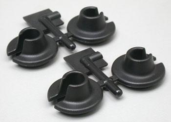 RPM Spring Cups Lower Blk TRA Nitro Slash/Rally 4x4(4