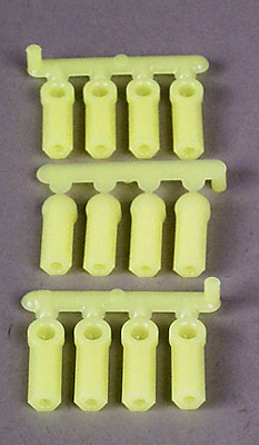 RPM Heavy Duty Rod Ends Yellow 4-40 (12)