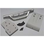RPM Fr Bumper Chrm+Skid Plate Gray Slash 4x4