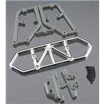 RPM Traxxas Slash 4X4 Rear Bumper-Chrome