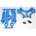 RPM Shock Tower/Adj Mount Blue T/E-Maxx