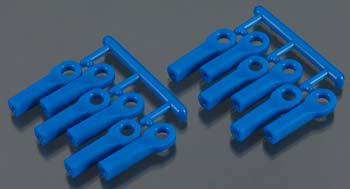 RPM Long Rod Ends For Traxxas Slash 4X4 And Rustler 4X4, Blue (12Pcs