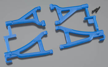 RPM Front U/L A-Arms Blue Mini Revo