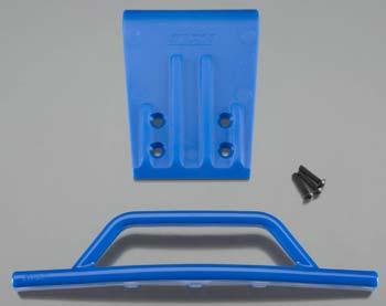 RPM Fr Bumper/Skid Blue Nitro Slash