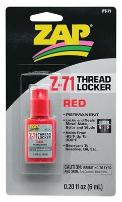 ZAP Red Thread Locker .20 oz